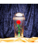 Beauty and the Beast Cup with Straw - Magic Rose - $12.95