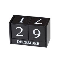 George Jimmy Wooden Permanent Calendar Creative Calendar Decoration for Home/Off - $29.44