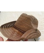 STRAW Sun Hat MEXICAN FEDORA SIDE SNAPS - $19.75