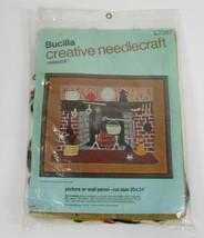 "Bucilla Creative Needlecraft "" Fireside "" Picture Wall Panel 20"" x 24"" NEW - $5.81"
