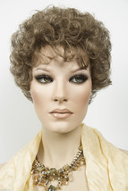 Medium Ash Brown Short Jon Renau Wavy Curly Wigs - $110.40