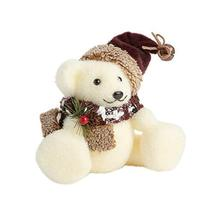 Northeast Home Goods Sisal White Christmas Bear with Scarf and Hat Decor... - $18.13
