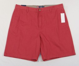 Chaps Dark Red Flat Front Shorts Mens NWT - $37.49