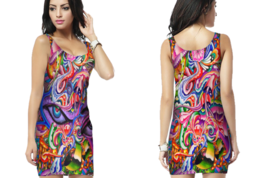 Psychedelic Face DNA Trippy Tongue DMTT Bodycon For Women - $22.99+