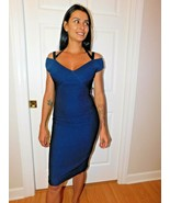 YIGAL AZROUEL OFF SHOULDER COCKTAIL  DRESS SIZE 14 NEW $990 - $89.09
