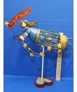 Coyne & Co Flying Angel Candle Tealight Holder Holiday Warm Wishes Metal... - $29.69