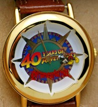 Mickey Mouse Watch Disney Team Pride Mickey Rotating on Dial Hand Watch New - $127.66
