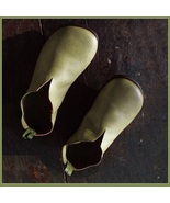 Scandinavinan Norwegien Comfortable Soft Leather Slip On Green Viking Tu... - $89.95