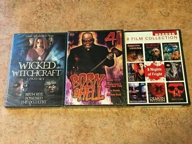 Primary image for 15 NEW Horror Movies! 3 DVD Lot! Full Moon, Occultist, Unholy Terror *RARE OOP*