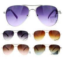 SA106 Luxury Womens Metal Jewel Fashion Aviator Sunglasses - $12.95