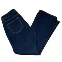 Talbots Petite 6P / 28 Curvy Boot Cut Jeans Pants Denim Dark Wash Pocket... - $21.78