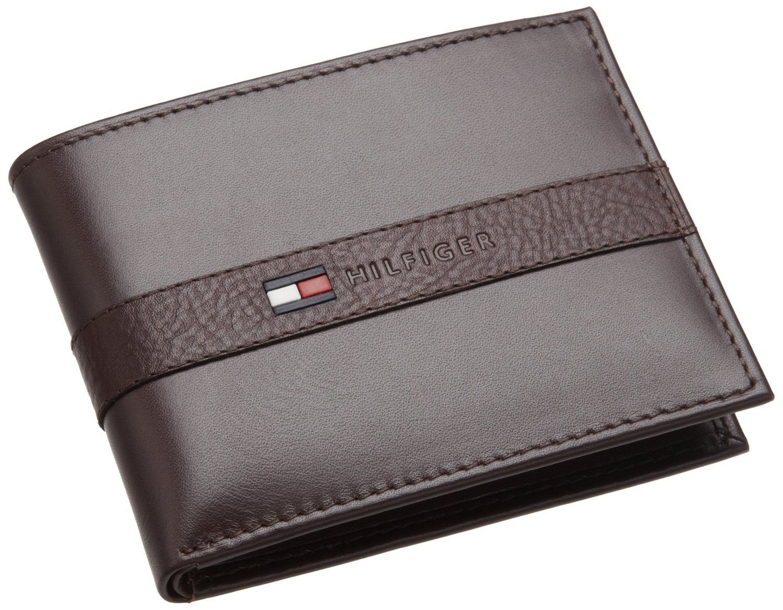 27dea36c6f New Tommy Hilfiger Men's Leather Credit Card Wallet Billfold Brown ...