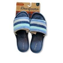 NWT DEARFOAMS Women's Memory Foam Blue Slippers Size Large (9-10) - $12.86
