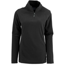 2X Plus Women's White Sierra Alpha Beta Quarter Zip II Fleece Pullover Black