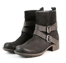 Womens Rockport Cobb Hill Mid Calf Boots - Black Nubuck, Size 7 [CH6264] - $89.99