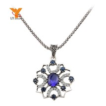 Cheap Wholesale Flower Fashion Necklaces Pendants 2014 Vintage Silver Pl... - $9.79