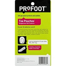 PROFOOT Toe Pouch Cushions Women's 6-10 1 Pair Protects Toes Cushions & Supports image 3