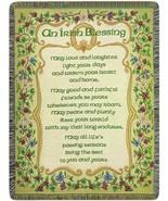 Irish Blessing Peace and Plenty 50 x 60 Jacquard Tapestry Throw Blanket USA - $51.48