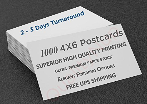"Postcards 4""x6"" - Custom Printing Full Color Superior - 16pt Premium Paper + Ele"