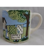 Coffee Cup Linda Davis Country Farm Mug 1873 Baby Bread & Quilts Handpai... - $14.85
