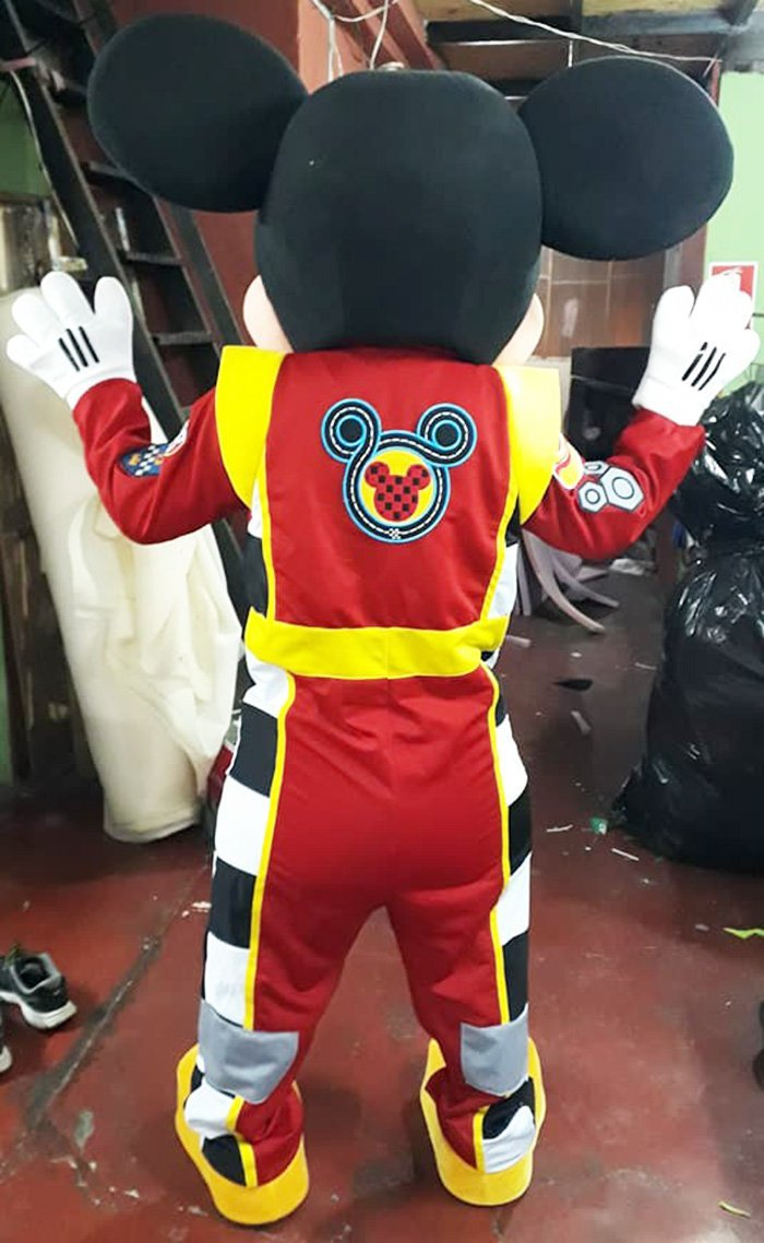 Mickey Mouse Mascot Costume Adult Mickey Racer Costume For Sale