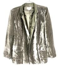 Talbots Petites Silk Velvet 8  open front  jacket Taupe Mushroom  - $34.00