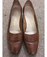 Womens Boutique Salvatore Ferragamo Brown Shoes, Size 7.5B, Made In Italy - $65.00