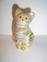 Fenton Glass Vanilla Tabby Natural Mini Kitten Cat Figurine Special Orde... - $77.12