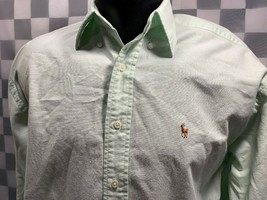 Ralph Lauren The Big Oxford Pulsante Anteriore Verde Lime Uomo Camicia T... - $14.02