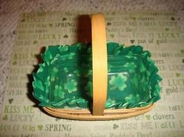 Longaberger Parsley Homemade St. Patrick's Shamrock Liner ONLY - $12.99