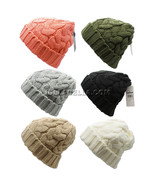 Beanie Ponytail Hole Hair Bun Tail Soft Stretch Cable Knit Winter Hat Sk... - $10.95