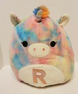 "Squishmallow 12"", ""Esmeralda"" Tie Dye Unicorn, Soft Pillow, ""R"" - $21.78"