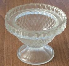 Lovely Pressed Glass Candy Dish - BEAUTIFUL DIAMOND PATTERN - VGC LID MI... - $14.84