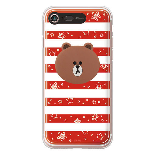 LINE Friends Premium Silicon Lighting Case iPhone 7/7 Plus Mobile Skin Cover