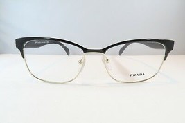 Prada Women's Black Glasses with case VPR 65R QE3-1O1 53mm  - $170.99
