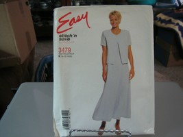 McCall's Stitch'n Save 3479 Misses Dress & Jacket Pattern - Size 14 Bust 36 - $6.92
