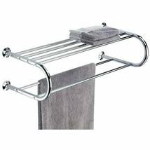 Wall Mount Chrome Finish Towel Hang Bars Stylish Modern Bathroom Rack - $16.70