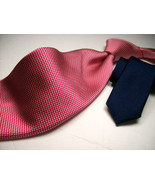 New TOMMY HILFIGER Pink/Red  Mens 100  SILK Necktie  s * 12-9 - $19.99