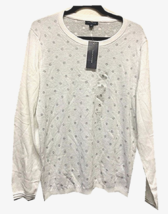 Tommy Hilfiger Women's Crew Neck Pullover Sweater, Snow White, Size XL - £10.97 GBP