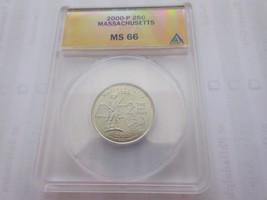 2000-P , Washington Quarter , Massachusetts , ANACS , MS 66 - $29.70