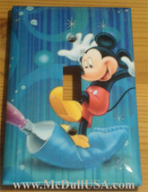 Mickey Mouse Color Painting Light Switch Outlet wall Cover Plate Home Decor image 1