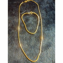 ~Gold Plated~Necklace And Bracelet Set~ - $21.78