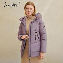 Women's New Style Hooded Solid Casual Short Quilted Puffer Windproof  Parka Coat image 4