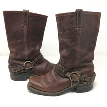 Frye Mens Brown Leather Gaucho Motorcycle Harness Boots Size 8.5 Riding Slip On  - $2.879,34 MXN
