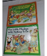 Autograph 2 Lot Children's Picture Books Eileen Christelow: Five Little ... - $9.90