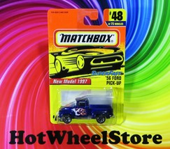 1997 Matchbox   Purple  '56 FORD PICK-UP  New Model   Card #48   MB9-101420 - $3.25