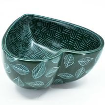 Vaneal Group Hand Carved Kisii Soapstone Green Heart Decorative Candy Bowl Kenya image 5