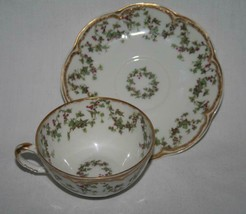 Haviland Limoges France Christmas Ivy Holly Berry Demitasse Cup & Saucer  #2398 - $149.00