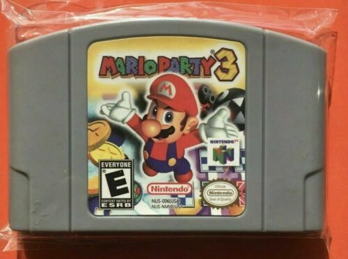Trilogy N64 Mario Party 1-2-3 Video Games Cards Cartridges USA Version Not OEM