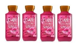 Bath & Body Works Oahu Coconut Sunset Shea & Vitamin E Body Lotion x4 - $33.50